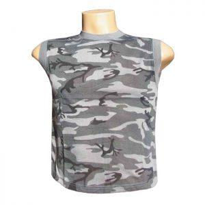 c138b6d30234 Maskáčové tričko bez rukávov pre deti HF grey